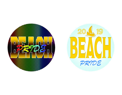 Beach Pride Buttons
