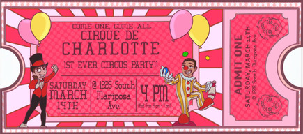 Circus B-Day Invite