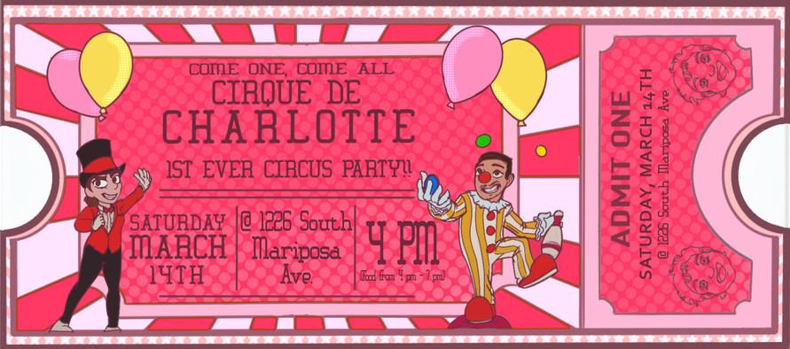 Charlottes' B-Day Invite