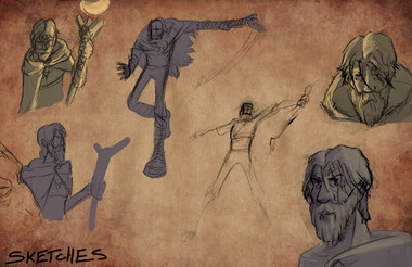 Black's Curse Sketch Board