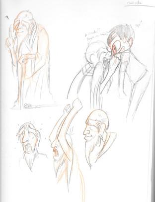 The (Un) Prophecy - Old Man Sketch