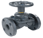 Cast Iron Flanged Weir Type Valve  Unlined (PN16 –10°C+180°C unlined EDPM seal)