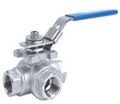 Stainless Steel Ball Valve L Port (PN63—29° C+140°C- FBSP)