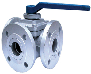 Stainless Steel Flanged Ball Valve 3 Way T Port (PN16 –0° C+ 180°C PTFE Seals)