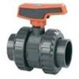 UPVC Double Union Ball valve Teflon - EDPM PN10 - 16