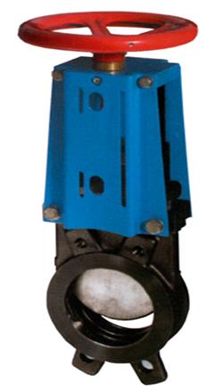 Cast Iron Flanged Knife Valve C/W Wheel Handle (PN16  –10° C-120° C)