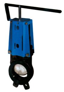 Cast Iron PN10 Flanged Knife Valve C/W Lever Handle (PN16  –35° C  + 120° C)