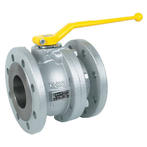 Flanged Ball Valve Gas approved (PN16 –10°C+100°C chrome ball PTFE seal)