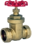 Brass Gate Valve (PN16–10°C+110°C compression)