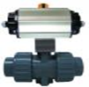 UPVC Double  Actuated ball valve S/return