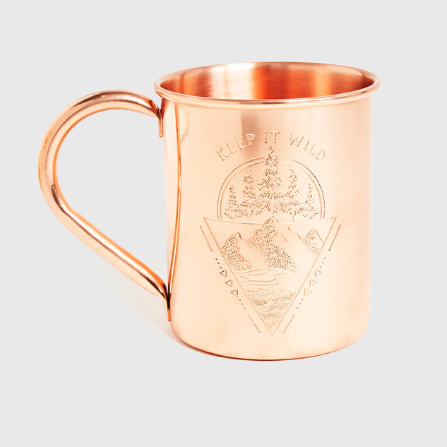 Mountain Range Copper Mug