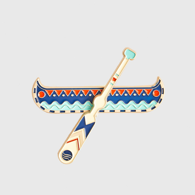 Canoe Enamel Pin