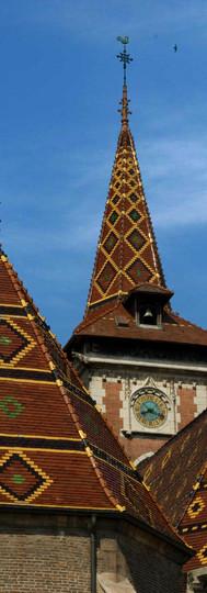 Le clocher de l'église de Louhans