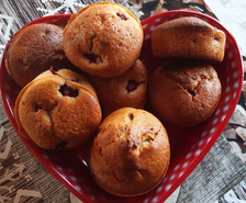 Muffin aux framboises du jardin