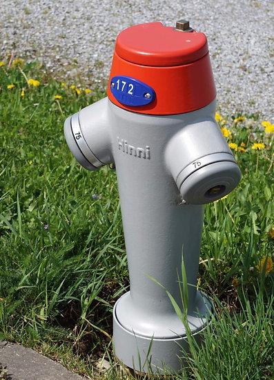 Hydranten um gefahren