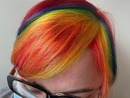 Trending: Rainbow Hair