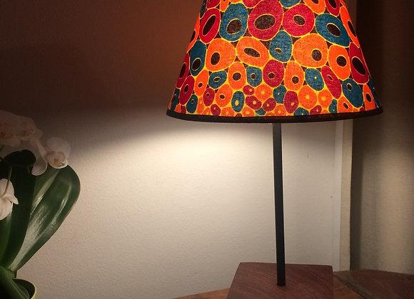 Lampe de table pied en bois exotique