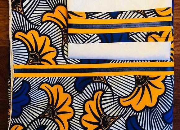 Housse de couette une personne fleur de mariage jaune bleu