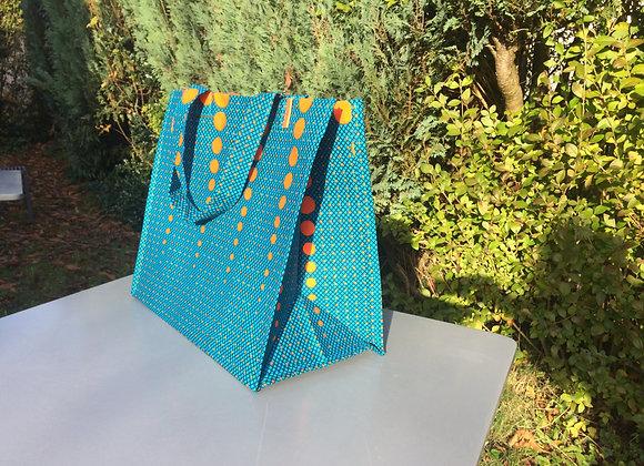 Sac provision pic nique turquoise orange