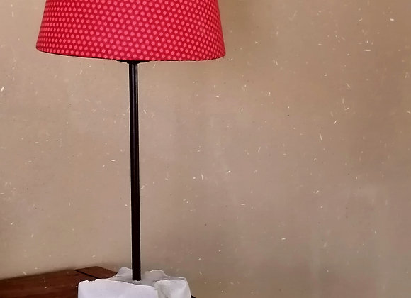 Lampe pied carré ciment