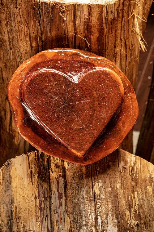 Medium Heart - warm caramel