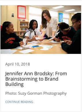 Jennifer Ann Brodsky: From Brainstorming to Brand Building
