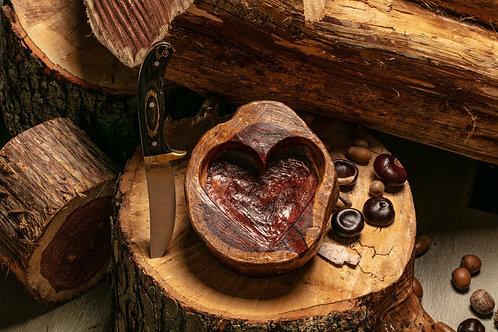 Medium Heart Bowl - dark rustic