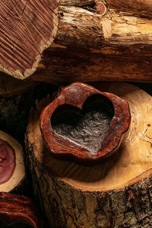 Medium Heart Bowl - dark tone