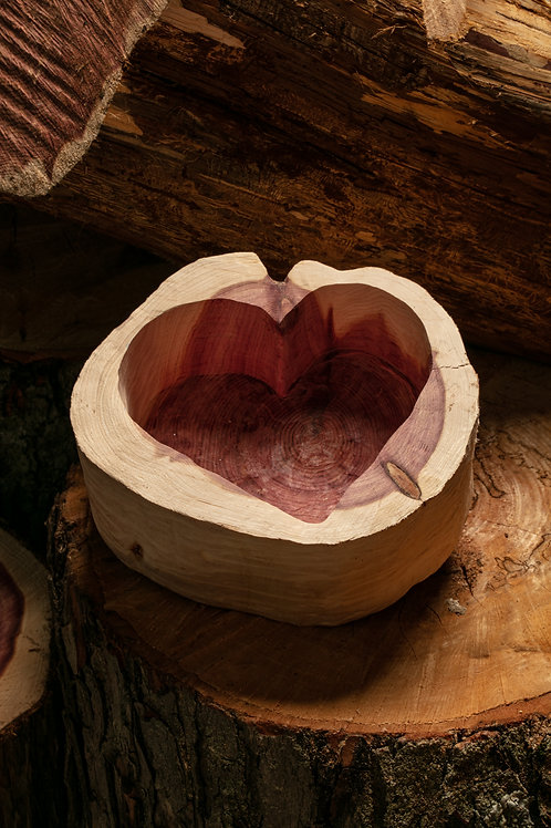 Medium Heart Bowl - natural