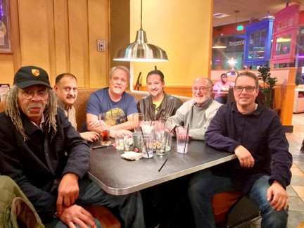 L to R: Jimmy Haynes, Christy Mereigh, Mike Tippett, Marc Maksimow, Craig Parada, Chris Hawkins, Photo by Betsy Parada