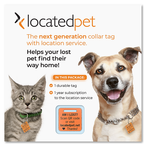 Buy 1, Get 1 FREE - 1 Year Service Subscription + Collar Tags