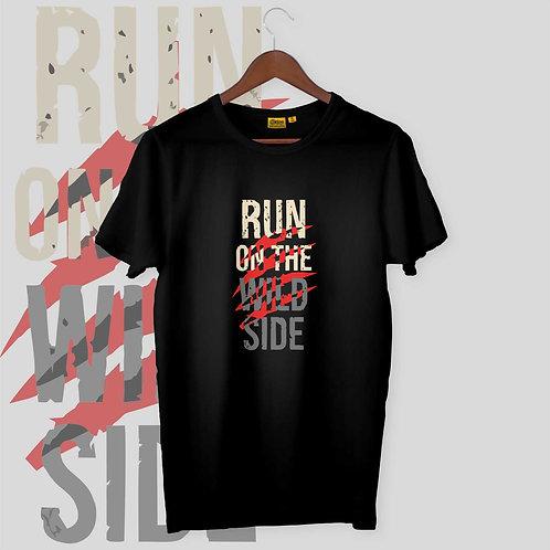 Run On The Wild Side Mens-H-S Crew Neck
