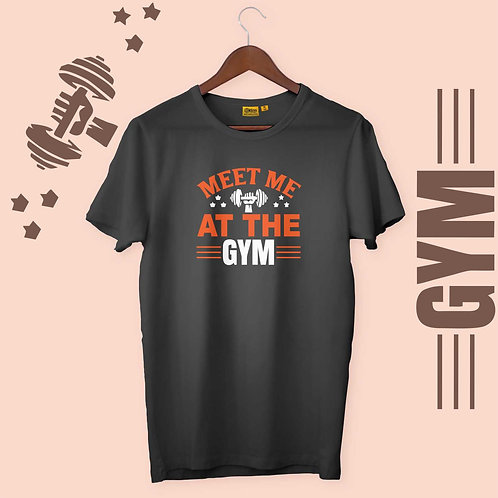 Meet Me At The GYM Mens-H-S Crew Neck