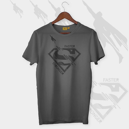 Super Man Faster Strong H-S Crew Neck
