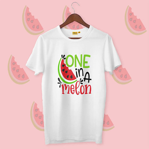 One In A Melon Mens-H-S Crew Neck