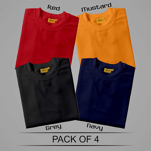 Pack Of 4 T-Shirt ( Combo )