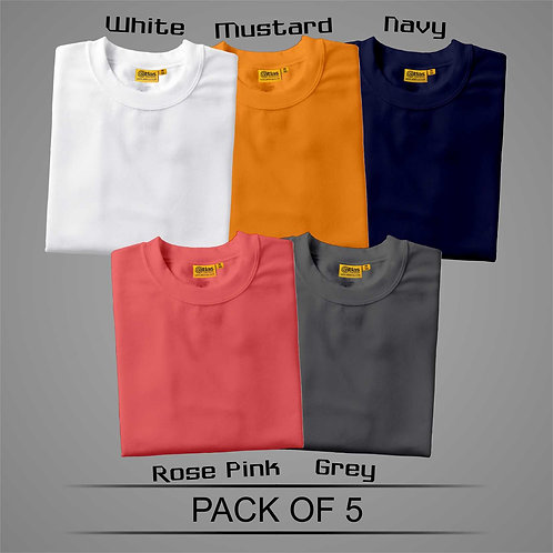 Pack Of 5 T-Shirt ( Combo )