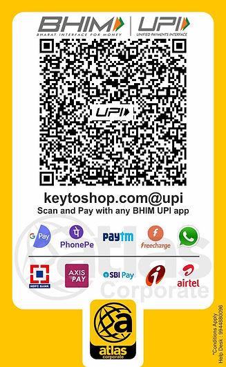 atlas corporate UPI Pay QR code