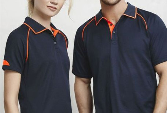 Premium Raglan Polo T-Shirt With Contrast PipingNavy