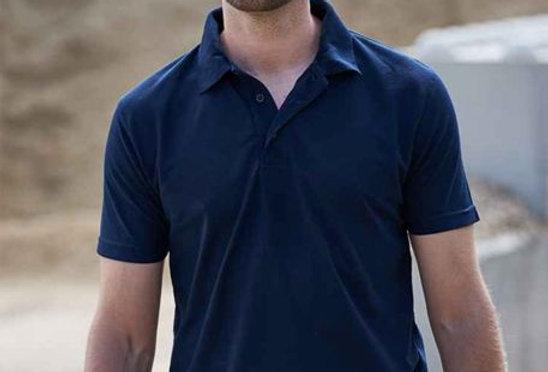 Cotton Polo T-Shirt Navy
