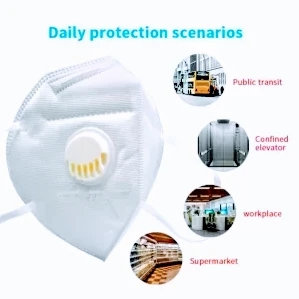 N95 Respirator Mask 5-Layered Outdoor Mask ( Pack Of 2 )