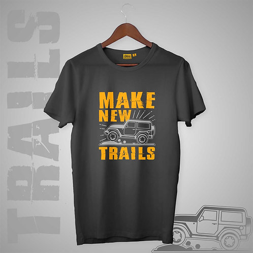 Make New Trails Mens-H-S Crew Neck
