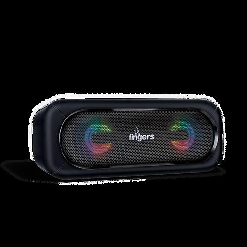FINGERS SuperLit Portable Speaker with TWS Technology & RGB Lights