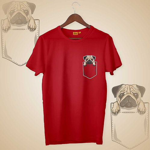 Pug Pocket Mens-H-S Crew Neck