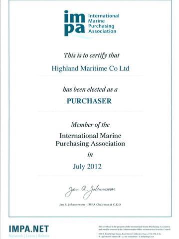 Highland - IMPA - Membership - PURCHASER since July 2012