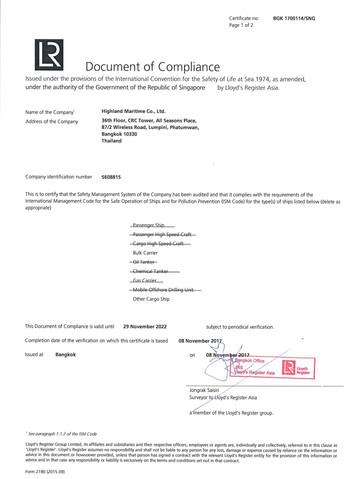 HIGHLAND - LR DOC - SINGAPORE - 29 Nov 2022