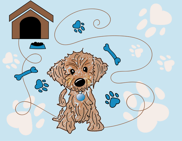Doggy Wall Paper Design