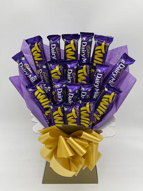 Cadbury's Dairy Milk & Twirl Bouquet - Large
