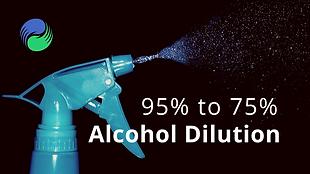 如何在家稀釋95%酒精配製成75%消毒用酒精?