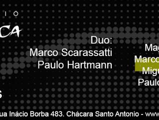 Duo Hartmann/Scarassatti no Estúdio Mawaca, 26/01-20:30hs